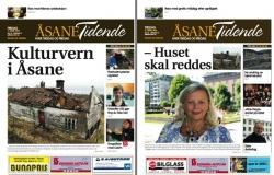 Faksimiler Åsane Tidende 1. og 5. april 2011