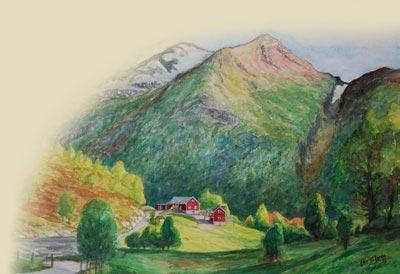 Maleri over Verpelstad, hentet fra www.verpelstad.no