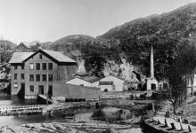 Eidsvåg Fabrikker anno 1896. Utlån: Eidsvåg Fabrikker